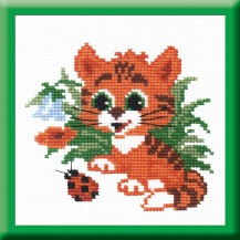 Kitty - Counted Cross Stitch Kit with Color Symbolic Scheme