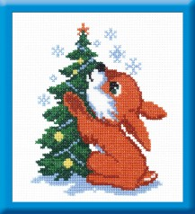 Red Rabbit - Counted Cross Stitch Kit with Color Symbolic Scheme