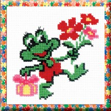 Toad - Counted Cross Stitch Kit with Color Symbolic Scheme