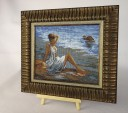 Girl At The Sea - Counted Cross Stitch Kit with Color Symbolic Scheme