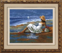 By The Sea - Counted Cross Stitch Kit with Color Symbolic Scheme