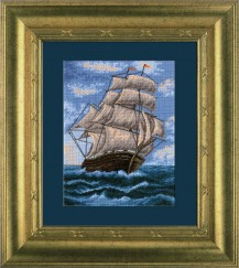 Sailing-ship - Counted Cross Stitch Kit with Color Symbolic Scheme