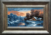 Winter Sunset - Counted Cross Stitch Kit with Color Symbolic Scheme