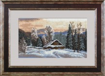 Winter Landscape - Counted Cross Stitch Kit with Color Symbolic Scheme