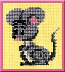 Mousy - Counted Cross Stitch Kit with Color Symbolic Scheme