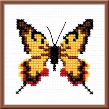 Butterfly 5 - Counted Cross Stitch Kit with Color Symbolic Scheme