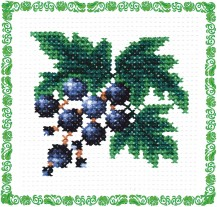 Currant - Counted Cross Stitch Kit with Color Symbolic Scheme