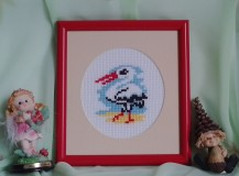 Stork - Counted Cross Stitch Kit with Color Symbolic Scheme