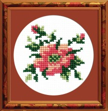 Flower - Counted Cross Stitch Kit with Color Symbolic Scheme