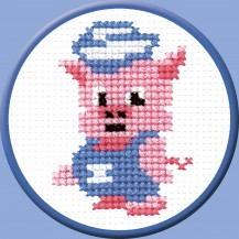 Piggy - Counted Cross Stitch Kit with Color Symbolic Scheme