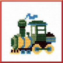 Train - Counted Cross Stitch Kit with Color Symbolic Scheme