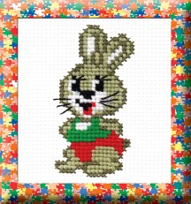 Rabbit - Counted Cross Stitch Kit with Color Symbolic Scheme