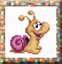 Snail - Counted Cross Stitch Kit with Color Symbolic Scheme