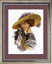 The Girl In The Hat - Counted Cross Stitch Kit with Color Symbolic Scheme