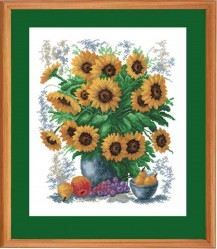 Sunflowers - Counted Cross Stitch Kit with Color Symbolic Scheme