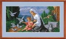 Madonna And Child - Counted Cross Stitch Kit with Color Symbolic Scheme