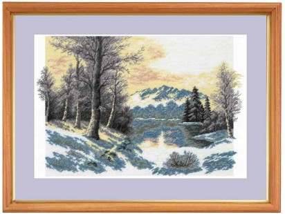 Winter Day - Counted Cross Stitch Kit with Color Symbolic Scheme