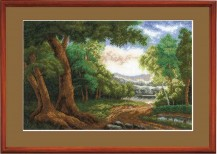 Forest - Counted Cross Stitch Kit with Color Symbolic Scheme