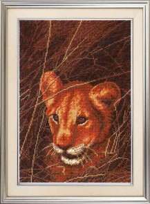 Lioness - Counted Cross Stitch Kit with Color Symbolic Scheme