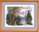 Autumn Landscape - Counted Cross Stitch Kit with Color Symbolic Scheme