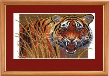 Tiger - Counted Cross Stitch Kit with Color Symbolic Scheme