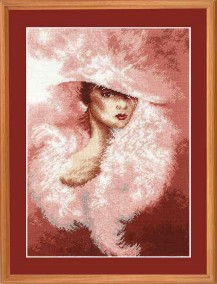 Rose Diva - Counted Cross Stitch Kit with Color Symbolic Scheme