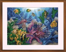 Tropical Fishes - Counted Cross Stitch Kit with Color Symbolic Scheme