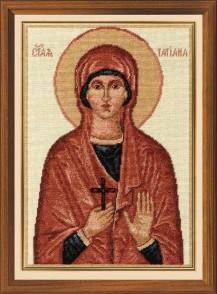 St. Martyr Tatiana - Counted Cross Stitch Kit with Color Symbolic Scheme