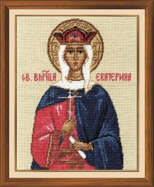 St. Martyr Catherine - Counted Cross Stitch Kit with Color Symbolic Scheme