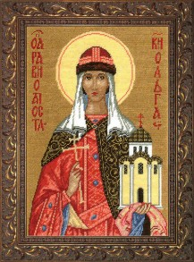 St.. Princess Olga - Counted Cross Stitch Kit with Color Symbolic Scheme