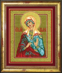 St.. Martyr Galina - Counted Cross Stitch Kit with Color Symbolic Scheme