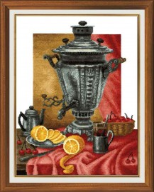 Samovar - Counted Cross Stitch Kit with Color Symbolic Scheme