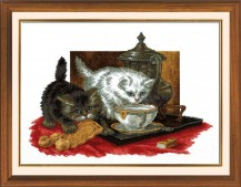 Tea-party - Counted Cross Stitch Kit with Color Symbolic Scheme