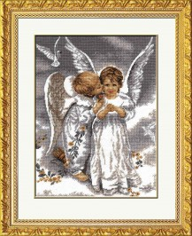 Two Angels - Counted Cross Stitch Kit with Color Symbolic Scheme