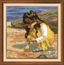 A Walk On The Beach - Counted Cross Stitch Kit with Color Symbolic Scheme