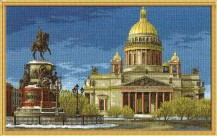 St. Isaac's Cathedral - Counted Cross Stitch Kit with Color Symbolic Scheme