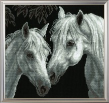 Horses - Counted Cross Stitch Kit with Color Symbolic Scheme