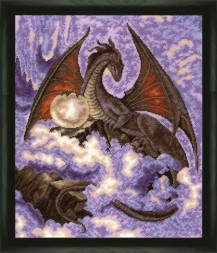 Dragon - Counted Cross Stitch Kit with Color Symbolic Scheme