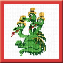 Dragon Gorynych - Counted Cross Stitch Kit with Color Symbolic Scheme