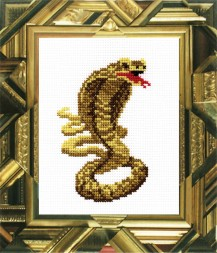 Cobra - Counted Cross Stitch Kit with Color Symbolic Scheme