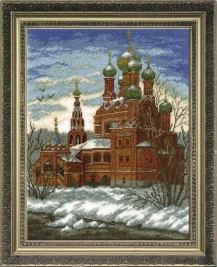 Temple Of The Trinity In Ostankino - Counted Cross Stitch Kit with Color Symbolic Scheme