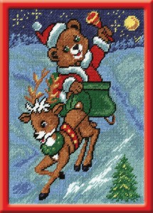 New Year Image - Counted Cross Stitch Kit with Color Symbolic Scheme