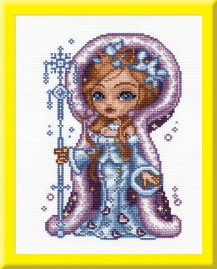 Snow-maiden - Counted Cross Stitch Kit with Color Symbolic Scheme
