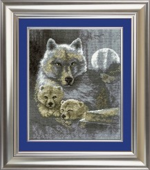 Wolfs - Counted Cross Stitch Kit with Color Symbolic Scheme