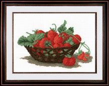 Still Life With Strawberries - Counted Cross Stitch Kit with Color Symbolic Scheme