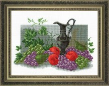 Antique Still Life - Counted Cross Stitch Kit with Color Symbolic Scheme