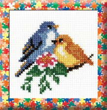 Birds - Counted Cross Stitch Kit with Color Symbolic Scheme