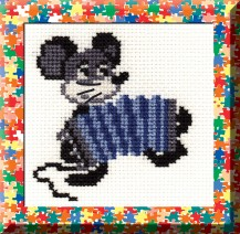 Mouse - Counted Cross Stitch Kit with Color Symbolic Scheme