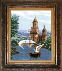 Sail  - Counted Cross Stitch Kit with Color Symbolic Scheme