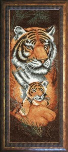 Tigers  - Counted Cross Stitch Kit with Color Symbolic Scheme